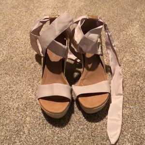 Brand New Ugg Ankle tie wedges